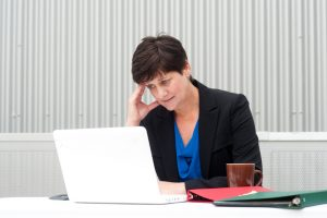 woman struggling to accelerate business growth